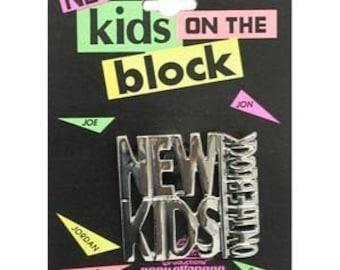 Vintage New Kids On The Block Pin On Original Card NKOTB