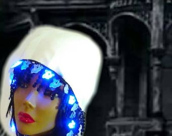 GHOSTLY ENCOUNTER FLASHING Lights Roaring Twenties Hat