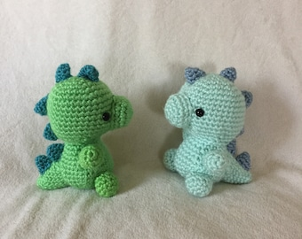 Amigurumi Dinosaur (in pastel or bright colors)