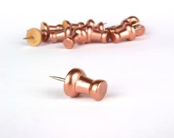 Push Pins, Rose Gold Push Pins, Rose Gold Office, Rose Gold Room Decor, Office Desk Accessories, Push Pin Travel Map, Pin Board, Thumb Tacks