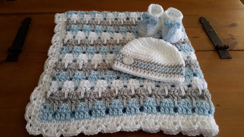 Baby Boy Blanket Crochet Stripe Crochet Blanket Afghan