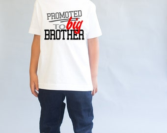 Big Brother Shirt - Big Brother to Be - Promoted to Big Brother - Pregnancy Reveal -  New Baby - Boys Top - Sibling T-Shirt