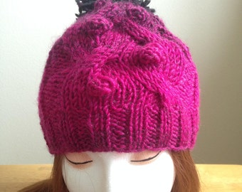 Cabled Bobble Beanie