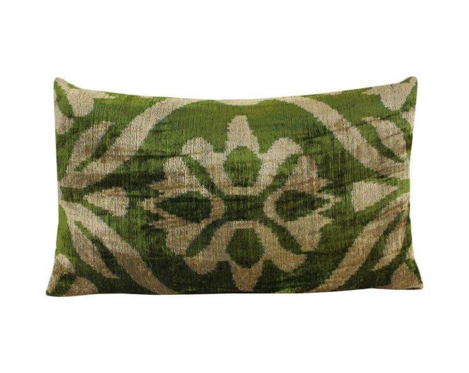 Silk Velvet Ikat Pillow Cover Lp496, Bohemian pillow, Velvet Ikat Pillow, Velvet Pillow, Velvet Pillow Cover, Ikat Pillows, Throw Pillows