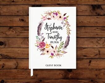 Wedding Guest Book, Wedding Guestbook, Custom Wedding Guest Book, Wedding Notebook, Bridal Shower Book, Wedding Memory Book, Floral Book