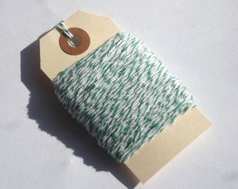 Green and White Bakers Twine 50 Yards