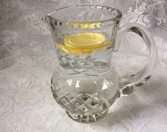 Crystal Water Jug Juice Cut Glass