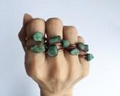 Rough emerald ring | Raw Emerald birthstone ring | Raw stone jewelry | Raw emerald jewelry | Raw emerald ring | May birthstone jewelry