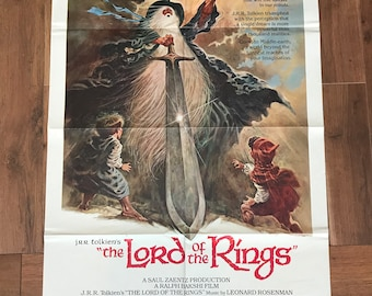 Original Lord of the Rings Poster 1980 - J.R.R. Tolkien - Ready Player One