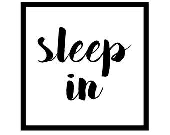 Sleep in printable