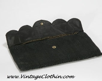 1940s M & C Corde' Clutch Purse, Handbag 1940s Purse, Corde Purse, Clutch Purse, Vintage Purse, 1940s Handbag, 1940s Clutch, Purse, Black