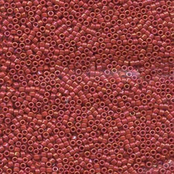 5g DB214 Miyuki Delica Bead Opaque Red Luster