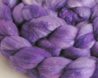Roving Merino Silk Top Fiber Velvet HYACINTH Phatfiber 50 Merino 50 Silk Luxurious Handspinning Spin Felt Craft Roving 2 ounces