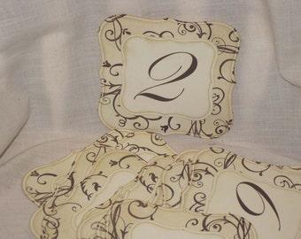 Vintage Style French Elegant Design Luxury Table Numbers/Names Wedding Original Design