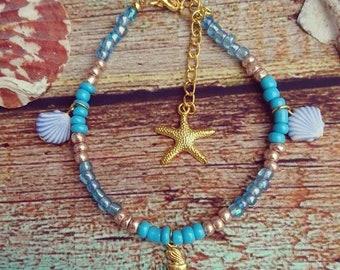 Mermaid ankle bracelet