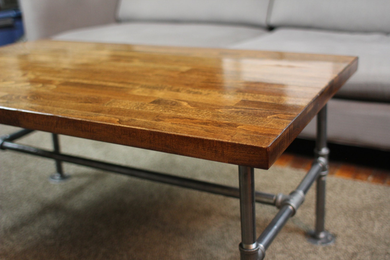Made to Order Handmade High Gloss Butcher Block Coffee Table