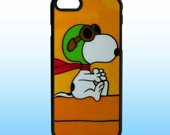 Peanuts Snoopy Red Baron Custom Iphone Case, Iphone 5, 6, 7, 8, X