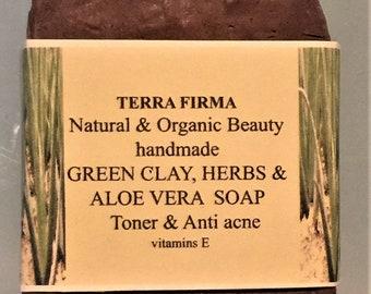 GREEN CLAY,  HERBS & Aloe Vera Soap