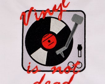 Vinyl isn't dead 5x7 machine embroidery design