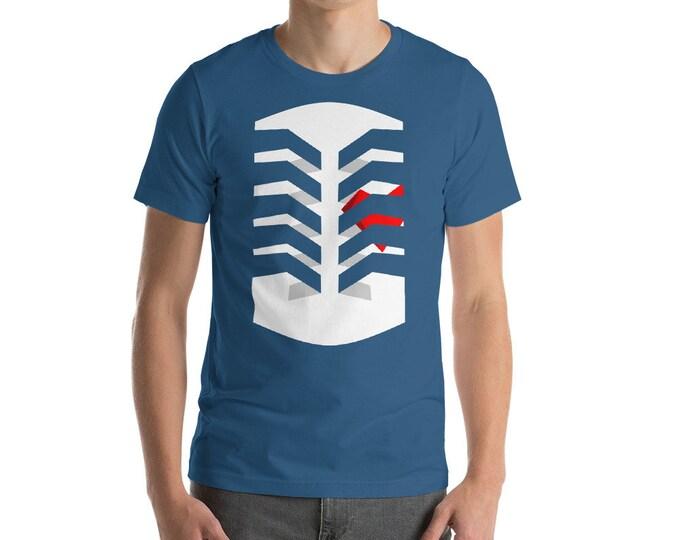 Heart in Cage Unisex Shirt | Muckender Original Art, Heart Shirt, Valentines Shirt, Ribcage Shirt, Caged Heart, Love