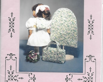 Needleworks by Nancy - Vintage 1994 - 18 inch doll - Luggage Set- Suitcase, Garment Bag and Backpack - NIP/pattern has been cut