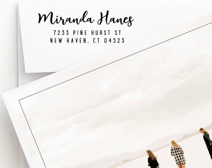 Featured listing image: Return Address Stamp, Self Inking Addressing Stamp, Personalized Rubber Stamp, Address Invitation Stamp, Gift For Bridesmaids (233)