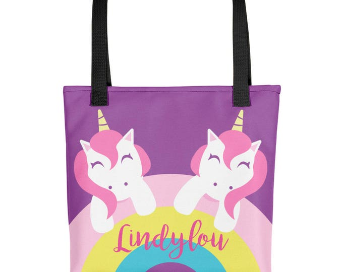 Custom Personalized Tote bag | Unicorn Tote for Kids | kids tote bag | beach bag | Kid's tote bag | Girls tote bag  | kids gift ideas | Tote