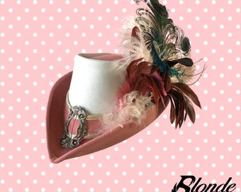 Pink and White Riding Hat