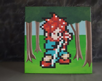Crono from Chrono Trigger Painting