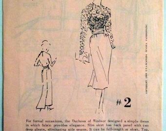 SPADEA #2 Duchess of Windsor Pattern   Size 14, 36 1/2 Bust, 37 1/2 Hip