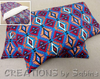Corn Heat Pack,Microwave Pillow washable cover Therapy Pad Bag Ice Pack Indian Native American Pattern Hopi colors (534)