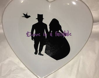 Wedding heart plates