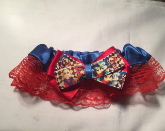 DC Superhero girls Wedding Garter - Handmade