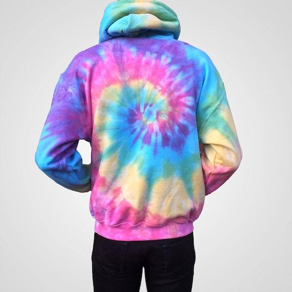 Unisex Rainbow Splatter Tie Dye Hoodie GTC9BZq1xt