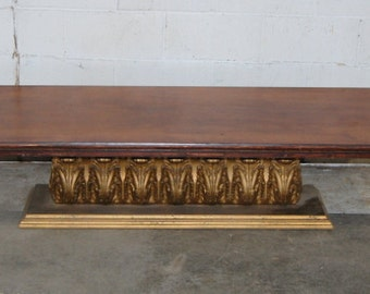 Antique 1920s Corinthian Coffin Stand, Coffee Table, Vintage Furniture