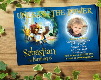 Legends of Chima Birthday Party Kit Favor Tags Bottle labels Centerpiece Lego Chima Birthday Party