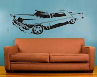 hot rod lowrider vinyl wall decal, sticker art, FREE SHIPPING