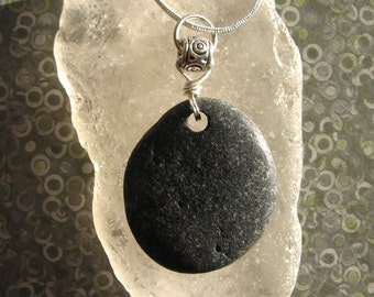 Lake Superior Basalt Zen Stone Pendant Necklace