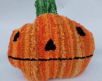 halloween...punch needle pillow...pumpkin parker