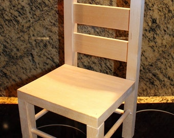 Wooden Doll  Chair - Vintage