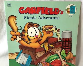 1988 Garfields Picnic Adventure, Golden book