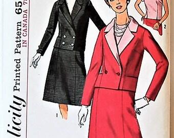 Simplicity 5688  Womens Suit Size 16 1/2 1964 UNCUT
