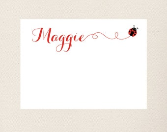 Ladybug Personalized Stationery