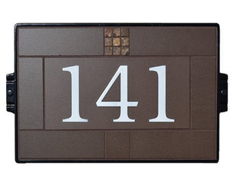 Address Plaque House Numbers Sign Craftsman 914