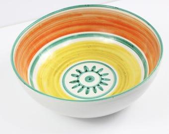 "Vintage Mid Century Modern Italian Art Pottery Signed Desimone 12"" Bowl"