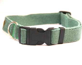 Hemp dog collar M