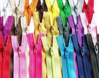 SALE 100 Assorted 4,5,6, and 7 Inch YKK Zippers