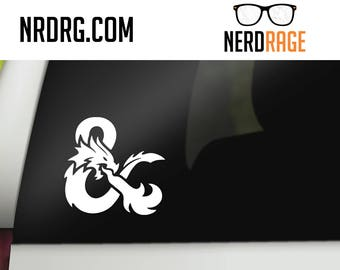 Dungeons and Dragons Ampersand Window Decal, DnD Ampersand Car Decal,  DnD Laptop Sticker, Pathfinder Phone Decal, RPG Window Sticker