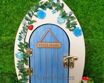 Fairy door - Pretty Blue