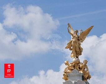 UK wall prints | angel statue | angel wings wall decor | london england art print | large artwork | angel art photography | peaceful